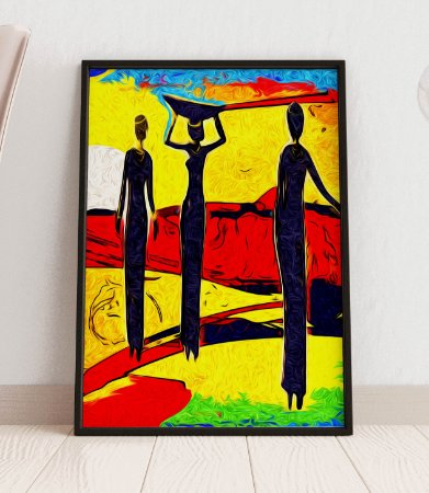 Quadro Decorativo Abstract Africa Retro Vintage Style