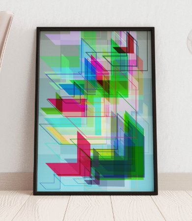Quadro Decorativo Abstract Navigation Art