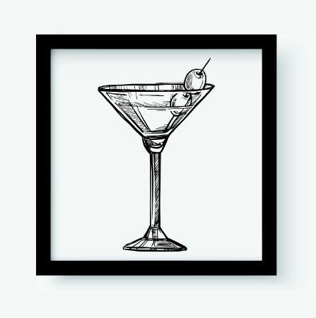 Quadro Decorativo Gourmet Alcoholic Cocktail