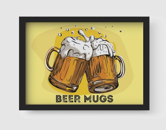 Quadro Decorativo Gourmet Beer Mugs