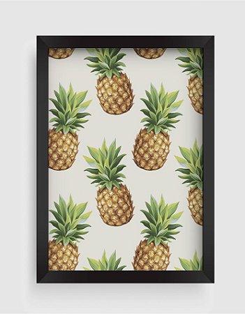 Quadro Decorativo Gourmet Pineapple Seamless Pattern