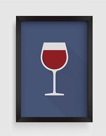 Quadro Decorativo Gourmet Wine Glass Icon