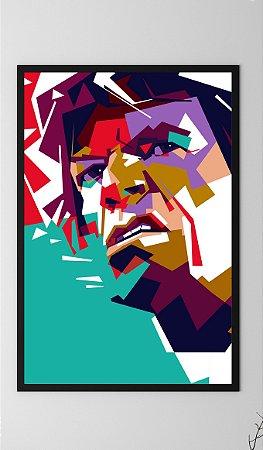 Quadro Decorativo Michael Philip Jagger, Vocalist from Rolling Stone Band.