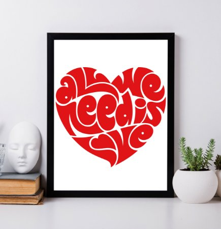 "Quadro Decorativo ""All we need is love"" from Beatles"