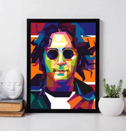 Quadro Decorativo John Lennon Abstract