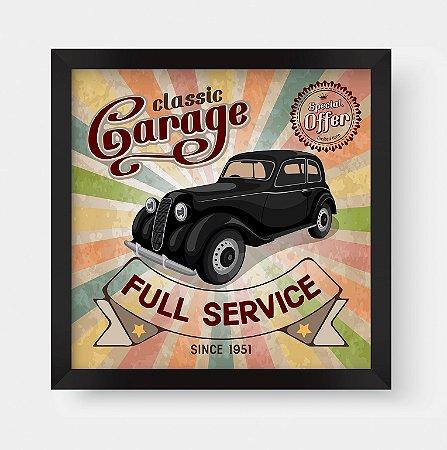 Quadro Decorativo Vintage Classic Garage Full Service