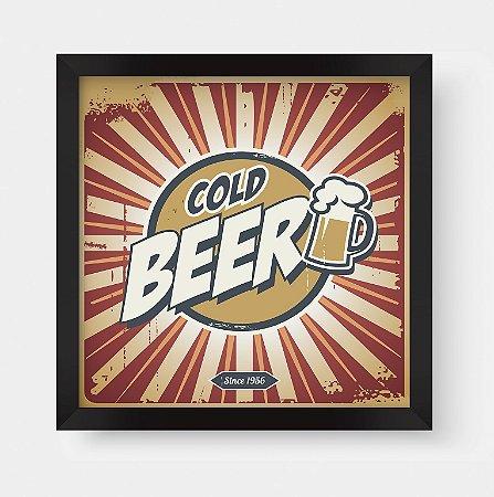 Quadro Decorativo Gourmet Vintage Cold Beer