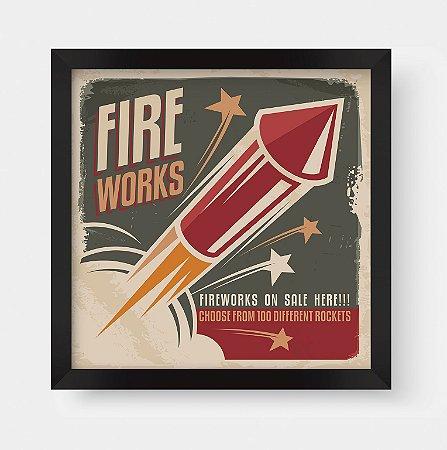 Quadro Decorativo Retro Vintage Fireworks