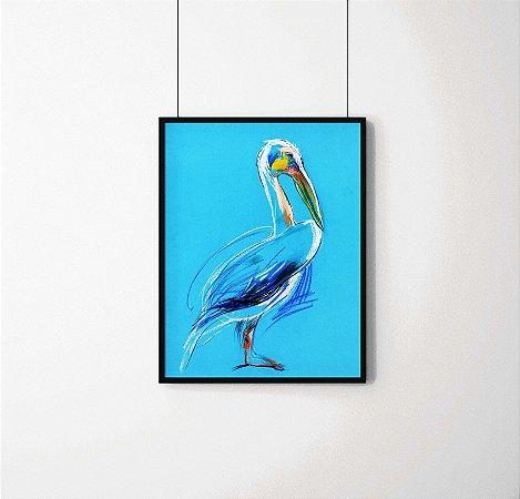 Quadro Decorativo Animais- Pelicano