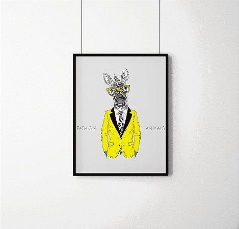 Quadro Decorativo Animais- Fashion Zebra.
