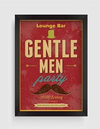 Quadro Decorativo Vintage Lounge Bar Gentle Men Party