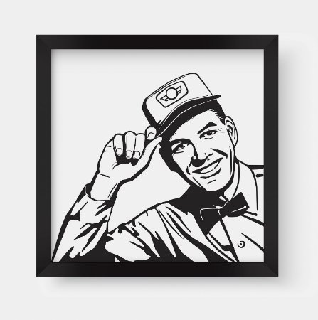 Quadro Decorativo Vintage Message Man