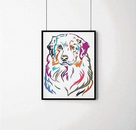 Quadro Decorativo Animais- Colourful Dog.