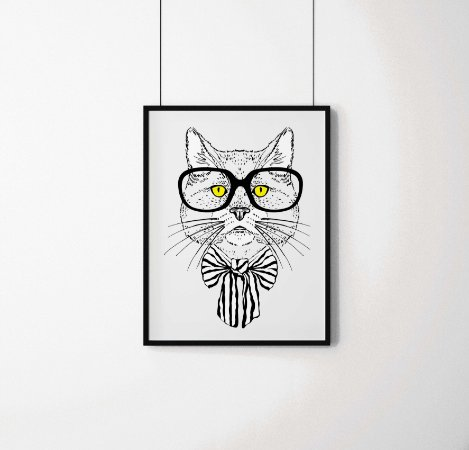 Quadro Decorativo Animais- Smart Cat