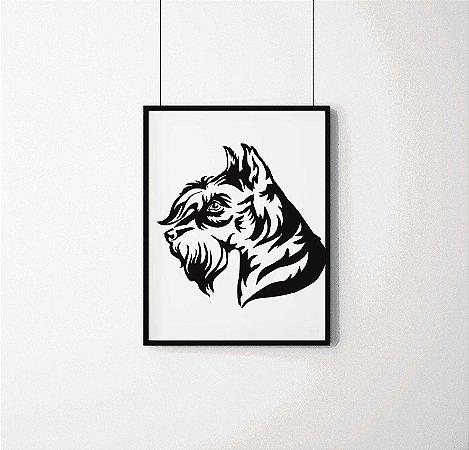 Quadro Decorativo Animais- Dog