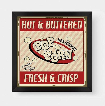 Quadro Decorativo Gourmet Vintage Hot & Buttered Pop Corn