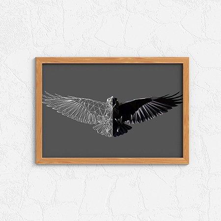 Quadro Decorativo Animais- Eagle abstract.