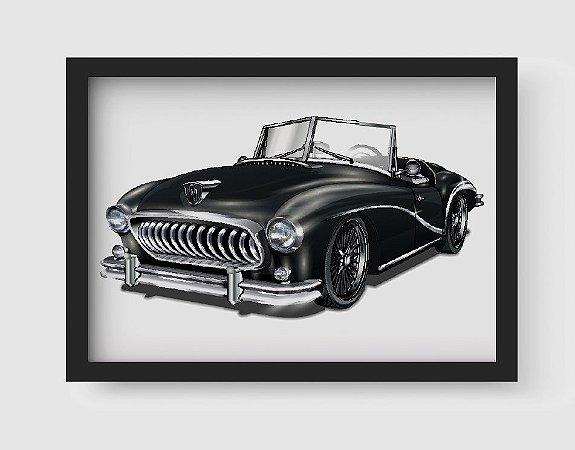 Quadro Decorativo Vintage Black Old Classic Car