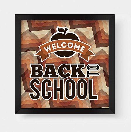"Quadro Decorativo Retro Vintage Old School ""Welcome Back To School"""