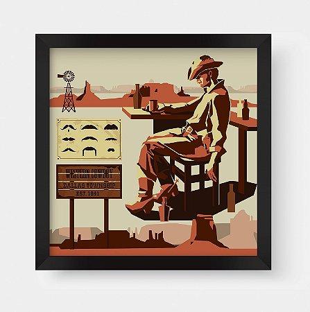 Quadro Decorativo Vintage Western Cowboy