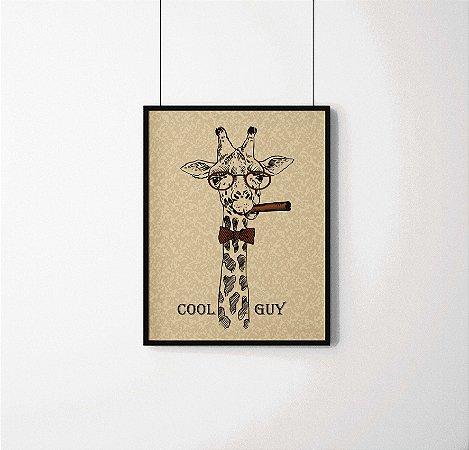 """Quadro Decorativo Animais- """"Cool Guy"""" Sophisticated Giraffe."""