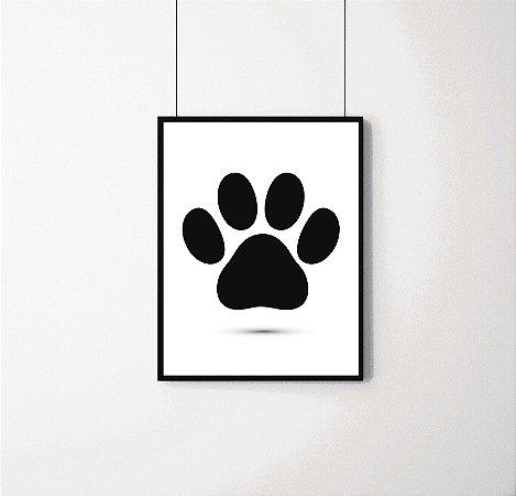 Quadro Decorativo Animais- Pata de Cachorro.