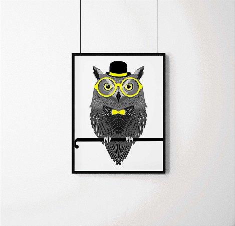 Quadro Decorativo Animais- Elegant Owl.