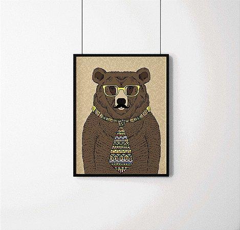 Quadro Decorativo Animais- Cool Bear.