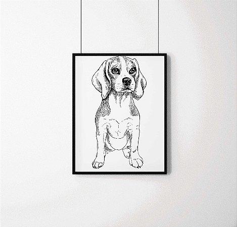 Quadro Decorativo Animais- Little Beagle.