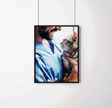 Quadro Decorativo Animais- Pet Love.