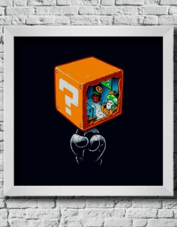 Quadro Decorativo Geek- Life Inside a question Box