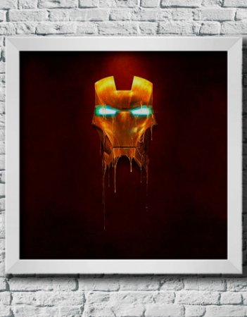 Quadro Decorativo Geek- Marvel Iron man.