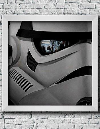 Quadro Decorativo Geek- Star Wars- Storm trooper.