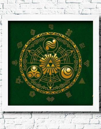 Quadro Decorativo Geek- Zelda Theme