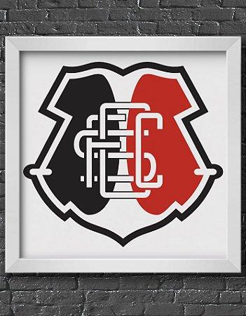 Quadro Decorativo Time: Santa Cruz - SCFC (Santa Cruz Futebol Clube)