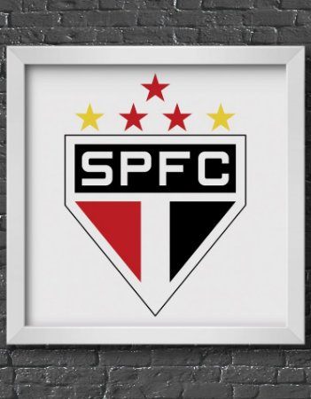 Quadro Decorativo Time: São Paulos - SPFC (São Paulo Futebol Clube)