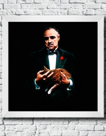 """Quadro Decorativo Filmes e Séries- """"The Godfather"""""""