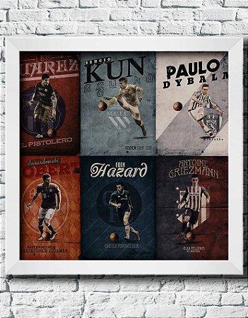 Quadro Decorativo Times de Futebol- Jogadores