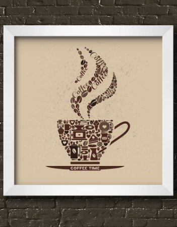 Quadro Decorativo Coffee Time Illustration