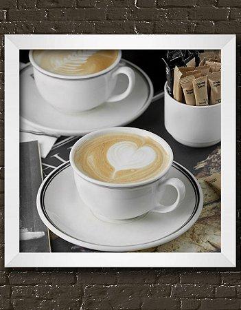 Quadro Decorativo Cups Cappuccino With Heart