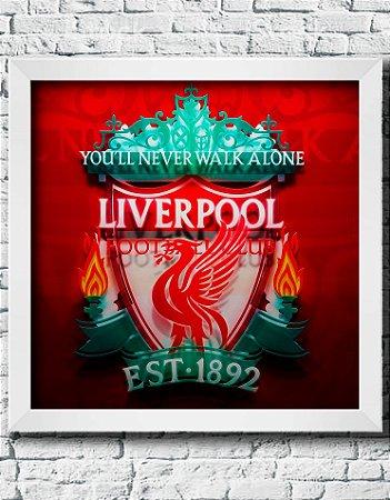 Quadro Decorativo Times de Futebol- Liverpool Football Club.