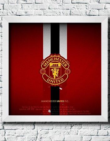 Quadro Decorativo Times de Futebol- Manchester United.