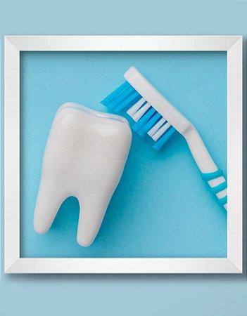 Quadro Decorativo Ortodôntico Dental Equipments From The Top View