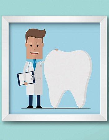 Quadro Decorativo Ortodôntico Ilustrativo Doctor And Teeth