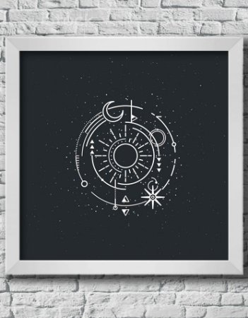 QUADRO DECORATIVO ASTROLOGIA SIGNOS DO ZODÍACO
