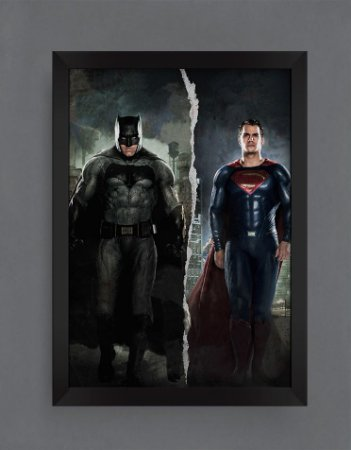 QUADRO DECORATIVO HERÓIS BATMAN SUPER MAN