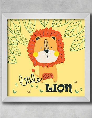 QUADRO DECORATIVO INFANTIL LEÃO BABY LITTLE LION
