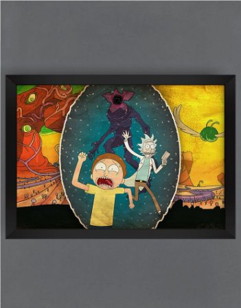 QUADRO DECORATIVO RICK E MORTY 18