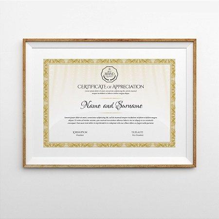 Moldura personalizada - Certificados / Diplomas