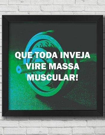 QUADRO DECORATIVO FRASES QUE TODA INVEJA VIRE MASSA MUSCULAR